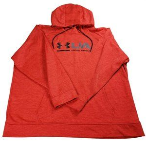 Under Armour Hoodie Mens 2XL XXL Red Loose Coldgear Drawstring Outdoor Gym Sport